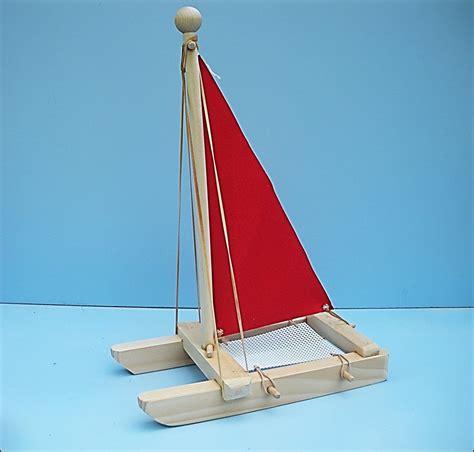Catamaran Boat Ornament by Sailboat Sailboat Wood Boat Pool Wooden