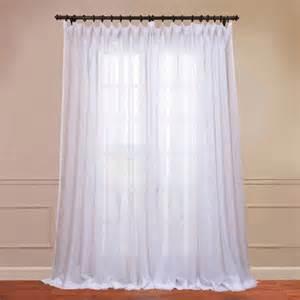 signature layered white 100 x 120 inch sheer curtain half pric
