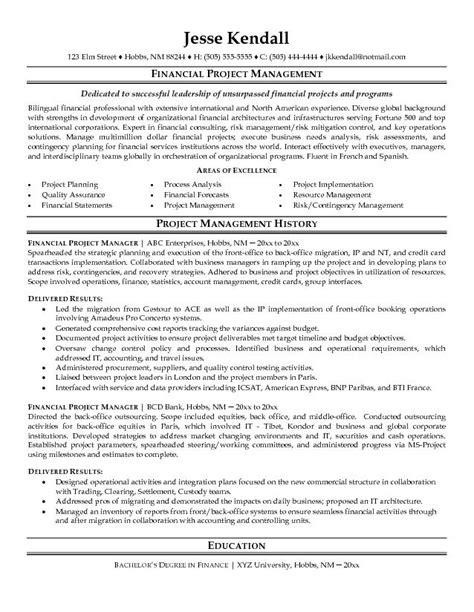 project manager resume samples samplebusinessresume