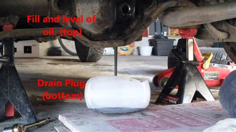 volvo  dl rear differential fluid change youtube