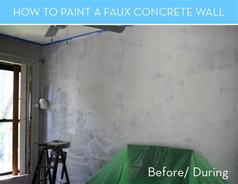 paint  faux concrete wall     real