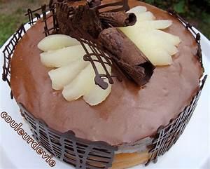 Décorer Un Gateau Au Chocolat : g teau mousseux chocolat poire couleurdevie ~ Melissatoandfro.com Idées de Décoration
