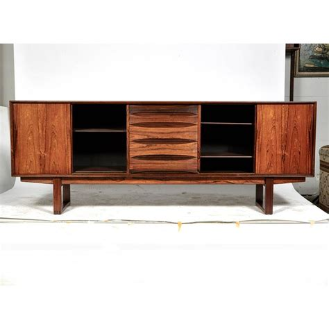 credenza legs rosewood credenza with sled legs by arne vodder
