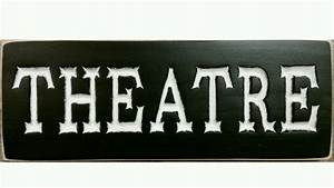 THEATRE French Country Home Theater Plaque Media Movie