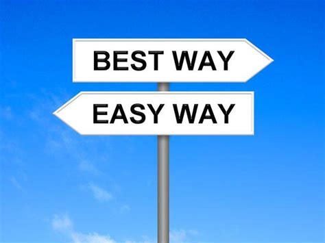The Easy Way Is Not Always The Right Way Cbncom