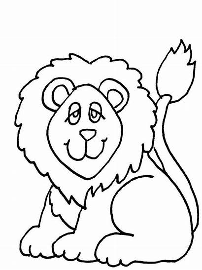 Coloring Cartoon Lion Pages Animal Colouring Animals