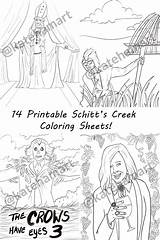 Coloring Creek Schitts Schitt Printable Charity Sheets Journey sketch template
