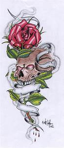 Roses Banner And Skull Tattoo Designs: Real Photo ...