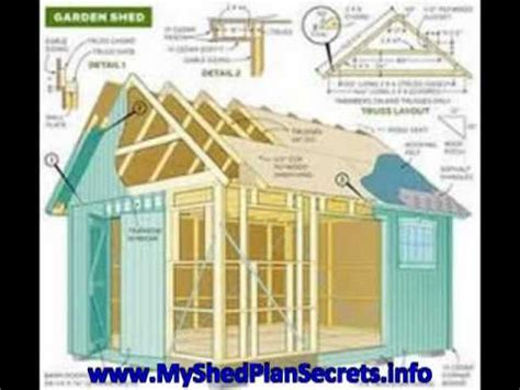 shed plans 12 x 16 youtube