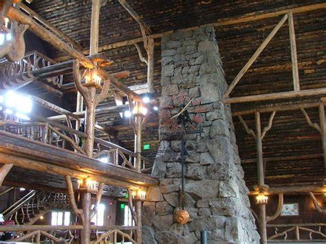 lobby fireplace yellowstone lodge photo