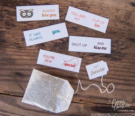 cute diy printable tea tags  valentines