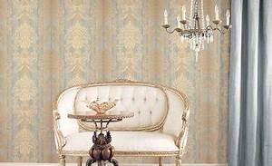barock tapeten bringen den richtigen stil in ihre raume With balkon teppich mit tapete samt