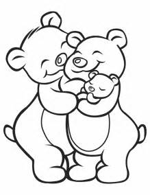 Bear Family Coloring Page