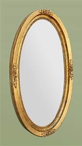 Miroir Doré Ancien : grand miroir ovale dor patin d cor de fleurs ~ Teatrodelosmanantiales.com Idées de Décoration