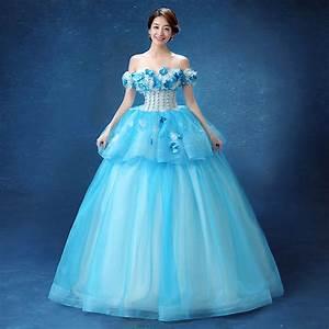 blue flowers beading slash medieval dress Renaissance Gown ...