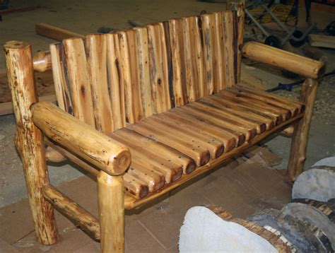 bench with back home wood furniture log bench quality wood western lodge rustic cabin ebay Rustic