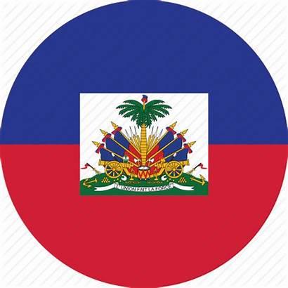 Haiti Flag Flags Circle Icon Circular Round