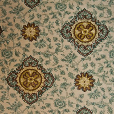 suzani ribbon embroidered floral birds drapery upholstery home decor fabric or132