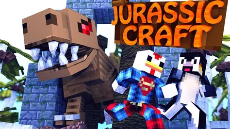 minecraft jurassic craft dinosaurs ep  saving