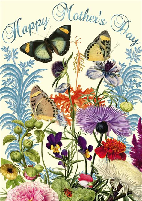 madame treacle butterflies flowers mothers day card mtsp