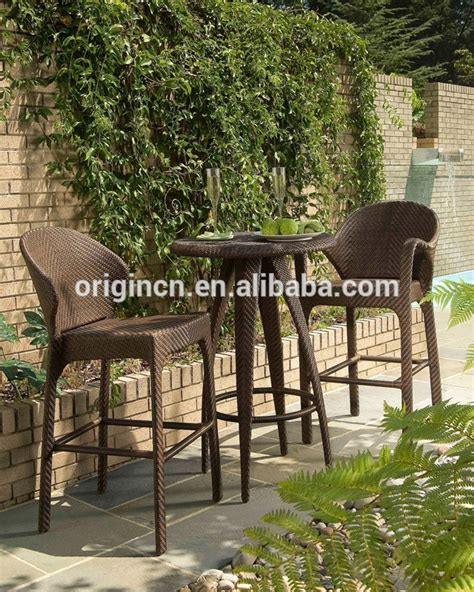 country style garden high tables and chairs outdoor