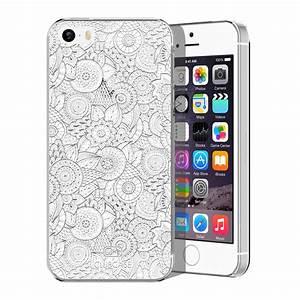 Coque Iphone 5 : coque crystal iphone 5 5s se extra fine dentelle florale blanche ~ Teatrodelosmanantiales.com Idées de Décoration