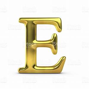 shiny gold capital letter e stock photo 514574796 istock With gold letter e