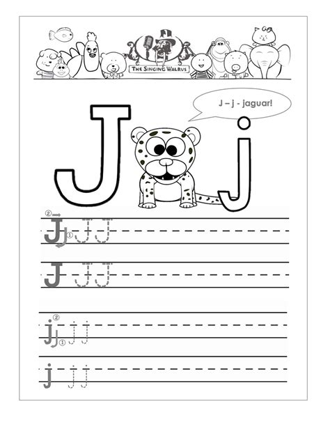 Letter J Worksheets Printable  Loving Printable