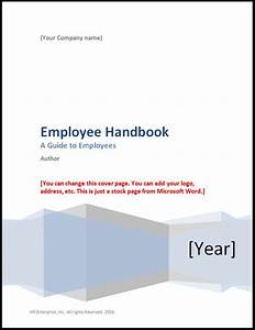 awesome employees handbook template ideas example resume With employee handbook cover page template
