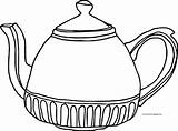 Teapot Coloring Fat sketch template