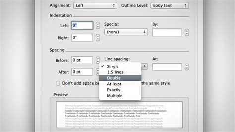 double space  word document   keystrokes