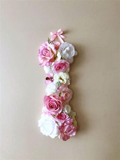 flower letters floral letters vintage wedding decor