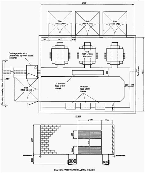 Trench Electric Potential Transformer Wiring Diagram by Indoor Distribution Substation Layout With 3 Transformers