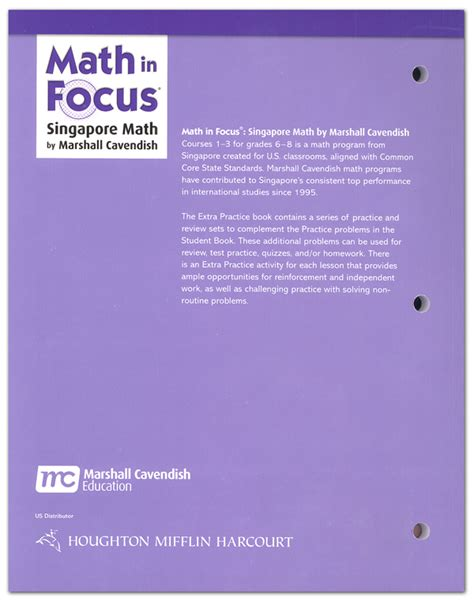 Math In Focus Course 3 Extra Practice A (gr 8 (017833) Details  Rainbow Resource Center, Inc