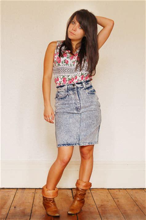 Vintage Skirts | u0026quot;1980u0026#39;s Acid Wash denim Pencil Skirt.u0026quot; by roarclothing | Chictopia
