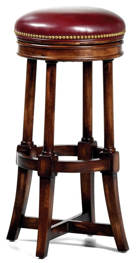 unique red leather  bar stool