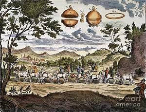 Magdeburg Hemisphere, 1672 Photograph by Granger