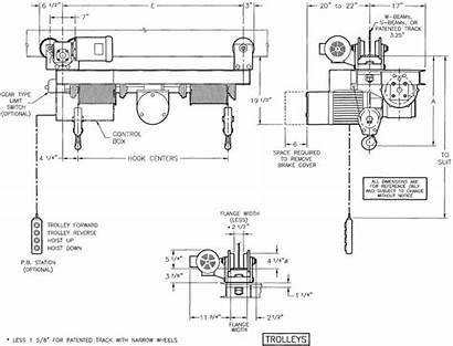 Drawing Hook Monorail Hoists Rope Wire Twin