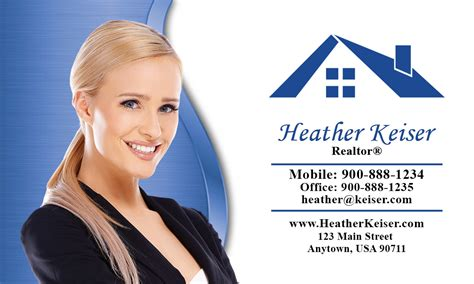 elegant real estate agent business card design