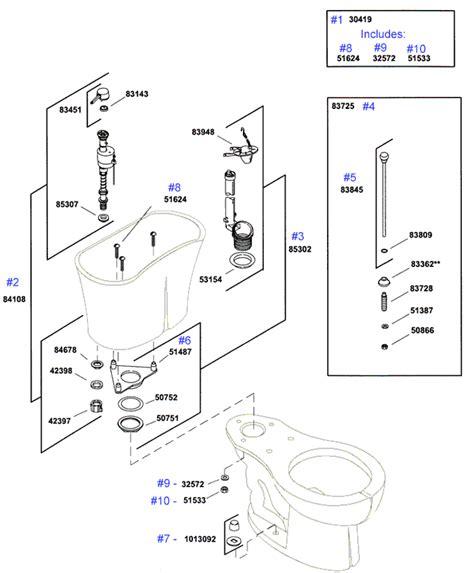 kohler fleur toilet replacement parts find repair parts to fix your unique jacob delafon fleur