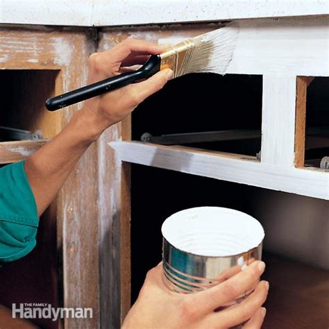 how to paint kitchen cabinets step by step how to paint kitchen cabinets the family handyman