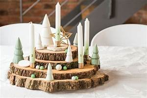 Basteln Mit Baumscheiben : naturnahe weihnachtsdeko mit einem adventskranz aus holz wohnideen und dekoration ~ Watch28wear.com Haus und Dekorationen