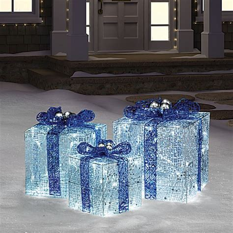 hanukkah gift boxes  lights  bluewhite bed bath