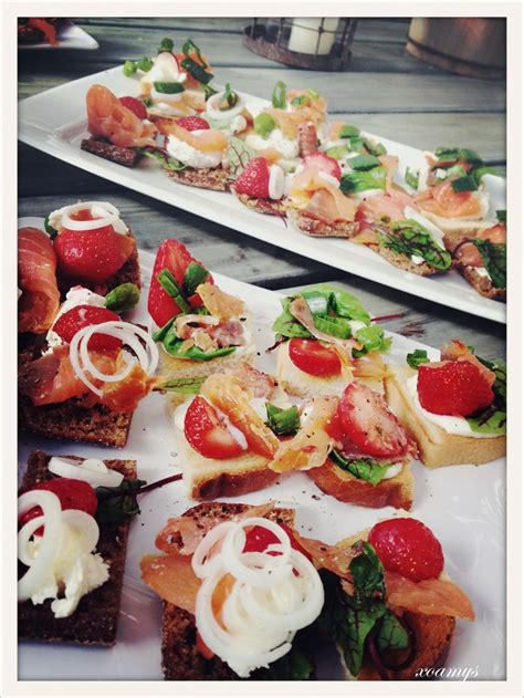 summer canapes summer salmon cheese canapés heavenly tastes