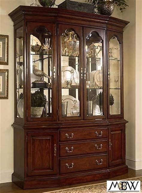 china cabinet with lights lighted cherry china cabinet hutch buffet ebay