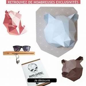 Trophée Animaux Origami : 1000 images about troph e de d coration on pinterest origami animal design and rhinoceros ~ Teatrodelosmanantiales.com Idées de Décoration
