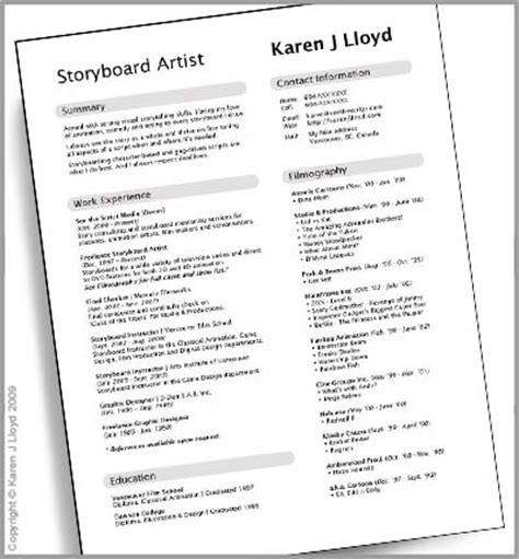 Theatre Resume Layout by Layout Resume Theater