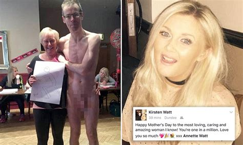 Daughter Shares Facebook Photo Of Mum With Naked Model Daily Mail Online