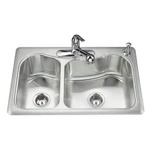 shop kohler staccato 22 in x 33 in basin stainless steel drop in 3 residential