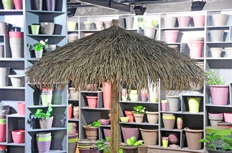 Baja Boat Umbrella by Custom Made Palm Trees Thatched Umbrellas